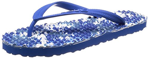 SOULS Zehentrenner Unisex Australian Thongs Original Massage Noppen Sohle 'Ocean Blue 1029' Lifestyle Sandale Wellness Massage Badeschuhe Badelatschen Strandschuhe für Damen Herren, Größe:38/39 EU