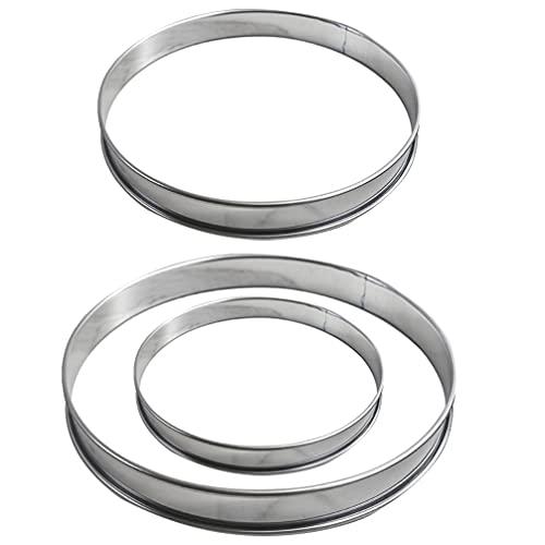 UPKOCH 3Pcs Edelstahl Kuchen Ringe Mousse Kuchen Formen Runde Kuchen Decor Backform Ring Backformen Set Werkzeug