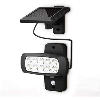 2x LED AD ENERGIA SOLARE ESTERNO area facciata continua muro sensore luci lampade faretti VERANDA