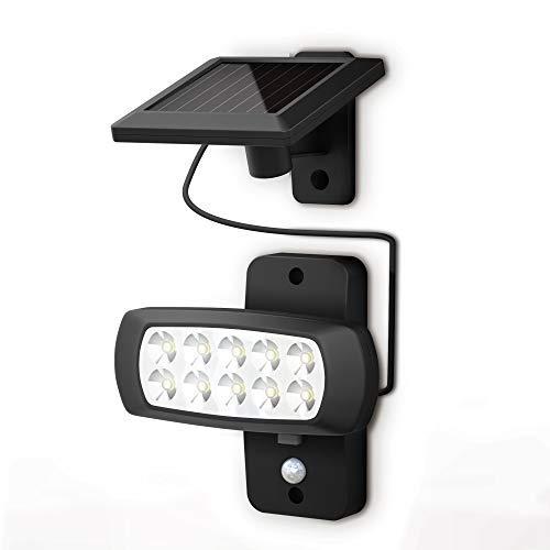 B.K.Licht I LED Außenleuchte mit Bewegungsmelder I Dämmerungssensor I 6.500K I IP44 I für Garten, Hof, Balkon, Garage I Solarlampe für Außen I Außenlampe I Wandlampe