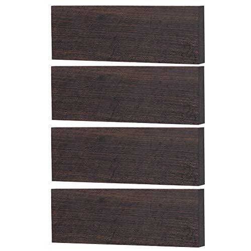 Alomejor 4 Stück DIY Ebenholz Musikinstrument Schwarz Ebenholz Holz Blank für die Herstellung von Ebenholz Musikinstrumenten Zubehör 120 x 40 x 10 mm
