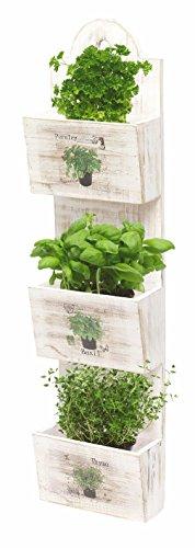 Spetebo Shabby Chic Kräuterampel - Samen Pflanztopf 3 Etagen - Kräutergarten zum Hängen