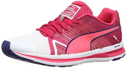 Puma Faas 300 S v2 Wn's - Zapatillas de running de material sintético para mujer, Weiß (Wht/F.Pink), 38