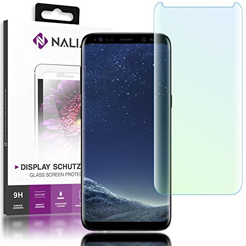 NALIA Schutzglas kompatibel mit Samsung Galaxy S8, 3D Full-Cover Displayschutz Hüllen-Kompatibel, 9H Härte Glas-Schutzfolie Handy-Folie Schutz-Film, HD Screen Protector Tempered Glass - Transparent