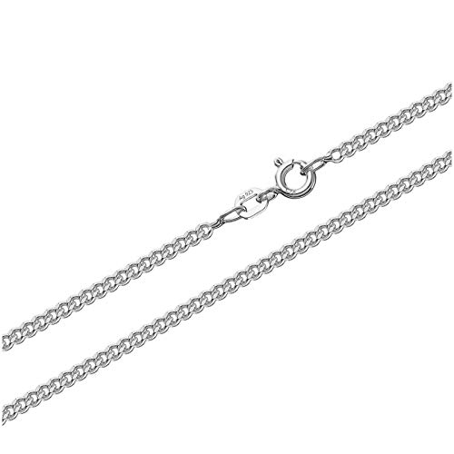 NKlaus 925 Sterling Silber Kette PANZERKETTE 70cm Königskette 2,10mm Breit 7,9gr 1819