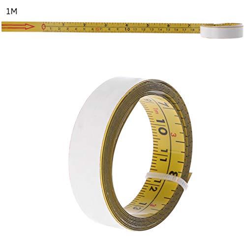 Zoll & Metrisch Selbstklebendes Maßband Stahl Gehrungssäge Skala Gehrungsschiene Lineal