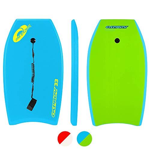 Osprey Interceptor, Bodyboard con guinzaglio Boogie Board per Bambini...