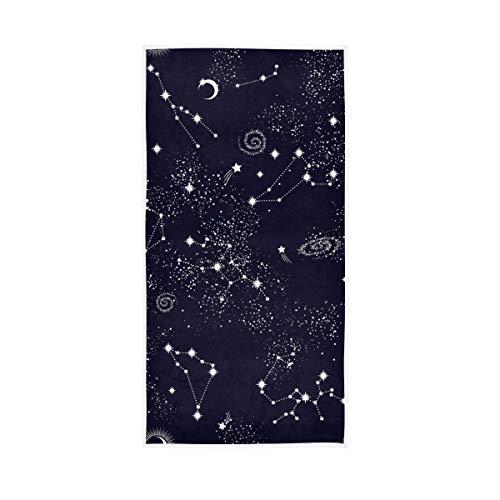 Mr.XZY Toallas de baño 100% algodón, de secado rápido, suaves, para hombre, mujer, hogar, cocina, natación, spa, gimnasio, 30 x 15 pulgadas, Galaxy 2010341