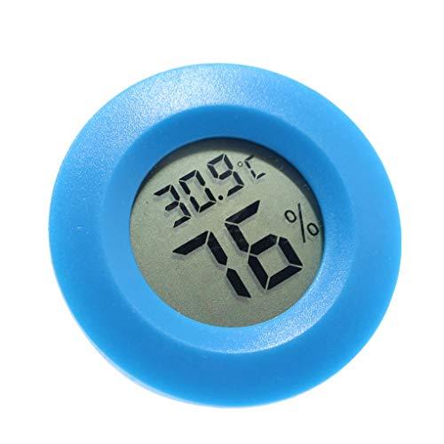 Mini Praktische Digitale Indoor Thermometer, Mini-Digital-Innen-Rund Runde Thermometer Hygrometer Temperatur-Und Feuchtigkeitsmessgerät LCD-Display