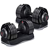 Merax Deluxe 71.5 Pounds Adjustable Dial Dumbbell (Pair. Set)【100% Arrive Before Xmas!!!!】