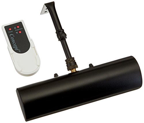 Concept Lighting 203L Cordless Remote Control LED Picture Light-7 3/4 inch Black, Small