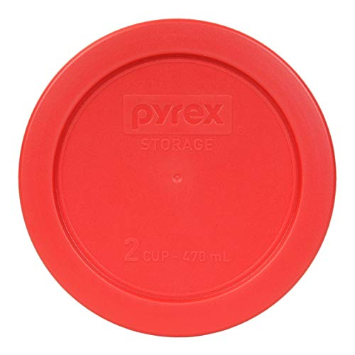 Pyrex 2 Cup Round Storage Cover for Glass Bowls, Dark Red by Pyrex