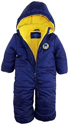 Product Image of the iXtreme Baby Boys Infant Cute Teddy Bear One Piece Puffer Winter Snowsuit, Navy,...