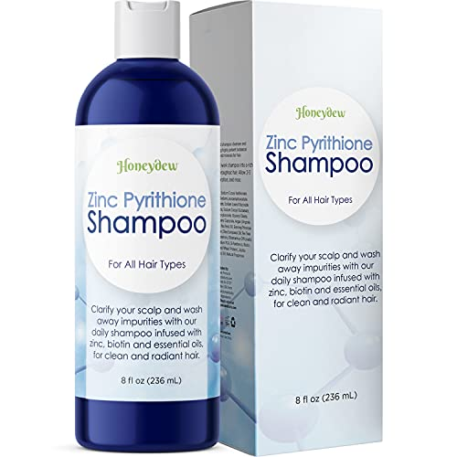 Biotin Hair Loss and Dandruff Shampoo with Zinc Sulfate Free Extra Strength Formula Removes Flakes Scales & Itchy Scalp Blocks DHT for Thick Healthy Hair with Tea Tree & Jojoba Oil for Men & Women 8oz