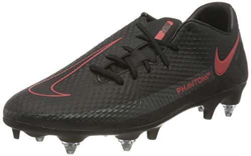 Nike Unisex Adults Phantom GT Academy SG-PRO AC Football Shoe, Black/Chile Red-Dark Smoke Grey, 9.5 UK 44.5 EU