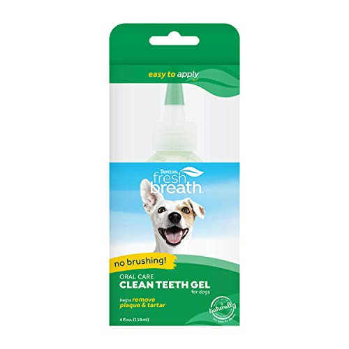 Fresh Breath by TropiClean No Brushing Clean Teeth Dental amp Oral Care Gel for Dogs 4oz Made in USA