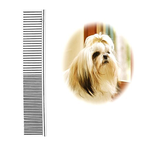 Pet Steel Grooming Comb Sparse Concentrated 2 in 1 for Grooming (Small) by PoPo-Show