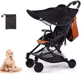pantalla para cochecito de beb/é con soporte universal dos colores Brown-Cremes UV schutz50/+ toldo Protecci/ón Solar Universal sombrilla paraguas para carrito y Sport Buggy
