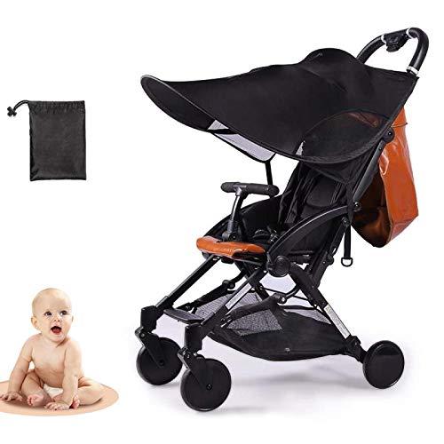 LIBRNTY Parasol para cochecito,Funda para cochecito de bebé, Sombrilla para cochecito,Toldo carrito bebe anti-UV, Universal y fácil de instalar,Diseño de la ventana+ bolsa de almacenamiento