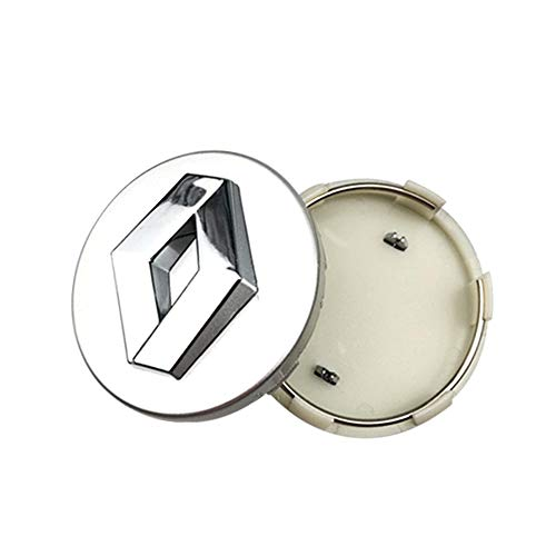 XCBW 4 STÜCK 60mm Auto Alloy Wheels Center Hub Caps Abzeichen Logo für R-enault Koleos Duster Megane