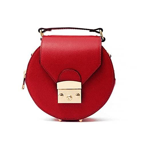 MARANT - GIFTY Bolso de piel redondo de mano con correa extraíble. rojo S