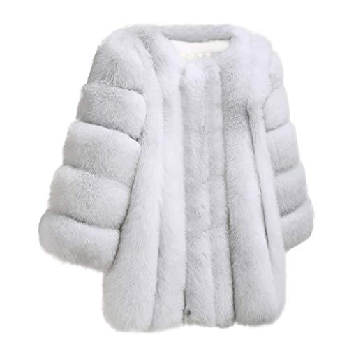 Read About FengGa Womens Slim Fashion New Winter Warm Fuax Fur Long Sleeve Sexy Coat Plus Outwear Ja...