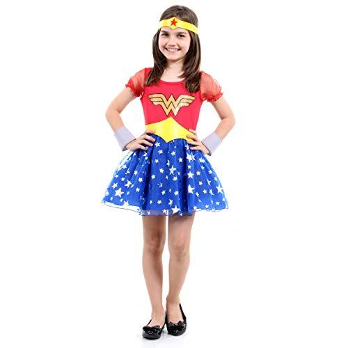 Fantasia Mulher Maravilha Princesa Infantil Sulamericana Fantasias P 3/4 Anos