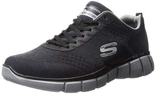 Skechers Men's Equalizer 2.0 True Balance Sneaker,Black/Charcoal,11.5 4E US