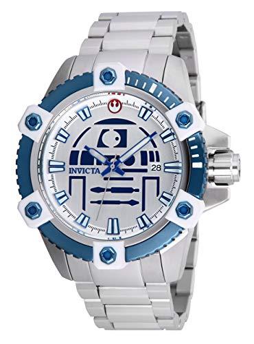 Invicta 26556 Star Wars R2-D2 Orologio da Uomo acciaio inossidabile Automatico quadrante argento