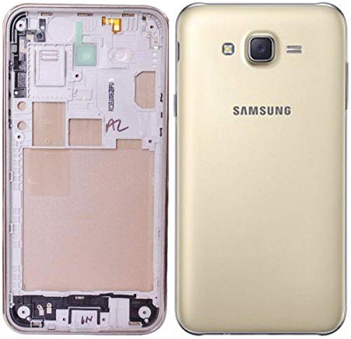Backer The Brand Premium Replacement Full Body Housing Panel for Samsung Galaxy J7 SM-J700F, SM-J700H, SM-J700M, SM-J700T, J7, SM-J700T1, SM-J700K, SM-J700P, SM-j7008 - Gold