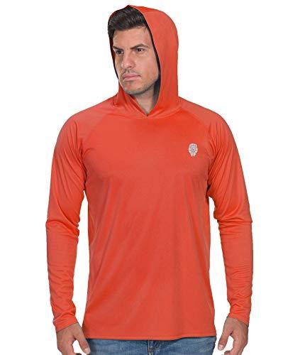 Fishing Shirts for Men Long Sleeve - UPF 50+ UV Sun Protection Outdoor T-Shirt Neon Pink