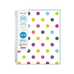 July 2020 - June 2021 stylish lesson planner, featuring 12 months of monthly and weekly pages for easy academic planning and scheduling Monthly view pages contain previous and next month reference calendars for long-term planning, and a notes section...