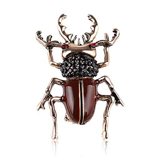 Tuipong Escarabajo Broches Esmalte Cubierto Bufandas Clip Mujeres Niños Broche de Escarabajo de Color, Broche de Adorno de Regalo