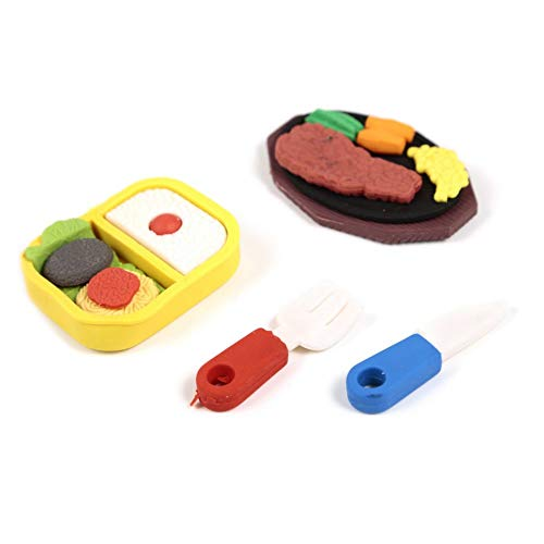 well-goal Collectible Fast food hamburger cola Scented snack cute Shape Erasers set Gifts