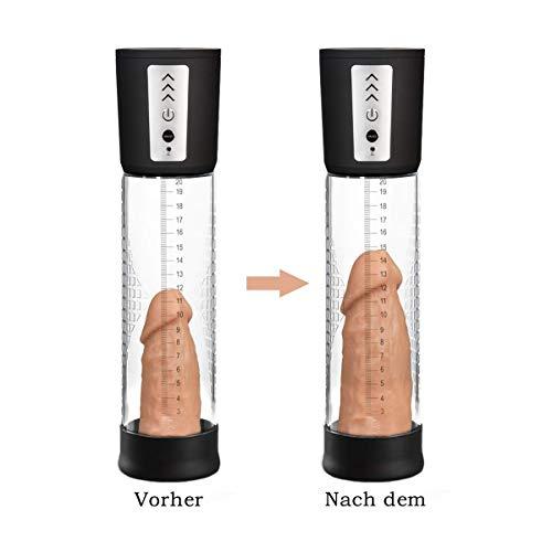 Tracy's Dog Penispumpen Vakuumpumpe Elektrisch Masturbatoren für Männer, Penis Erektion Stimulation Trainer Penisvergrößerung mit 2 Penisringe, Wiederaufladbar, Schwarz