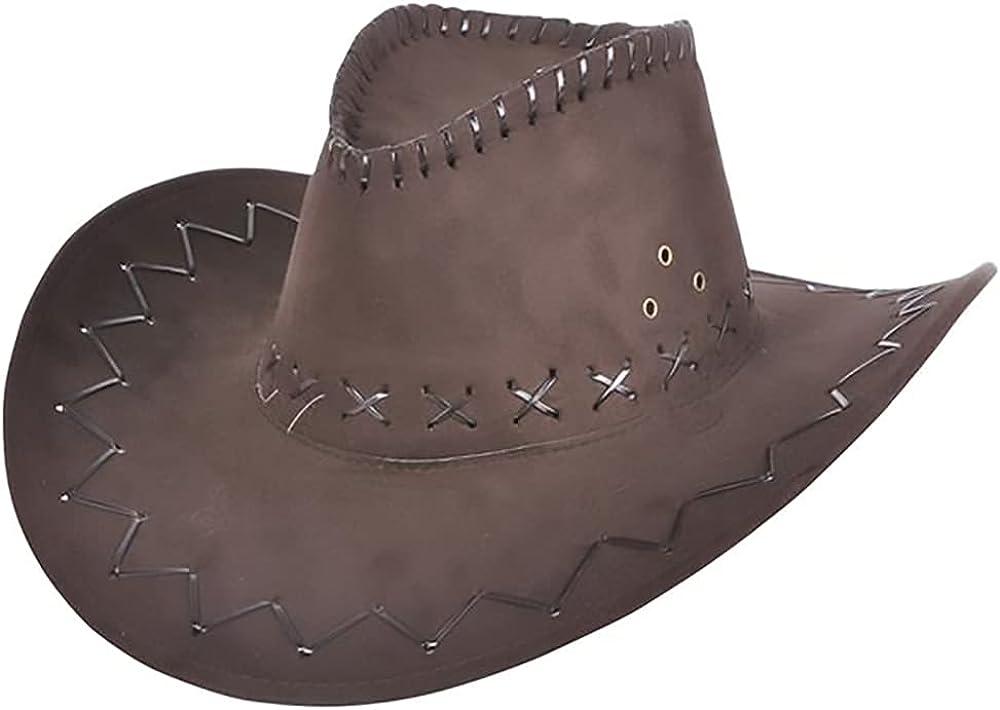 The Dreidel Company Microsuede Cowboy Hat, Western Cowboy Hat, Adult Medium