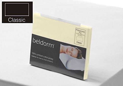 Belledorm 100% coton peigné Drap housse en jersey mousse à mémoire de forme en ivoire Lit superposé 75 cm x 200 cm x 25 cm Profondeur