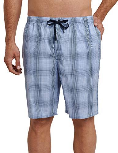 Schiesser Herren Mix & Relax Hose kurz' Schlafanzughose, Blau (Hellblau 805), Large (Herstellergröße: 052)