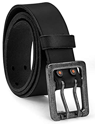 Timberland PRO Men's 42mm Double Prong Leather Belt, black, 36