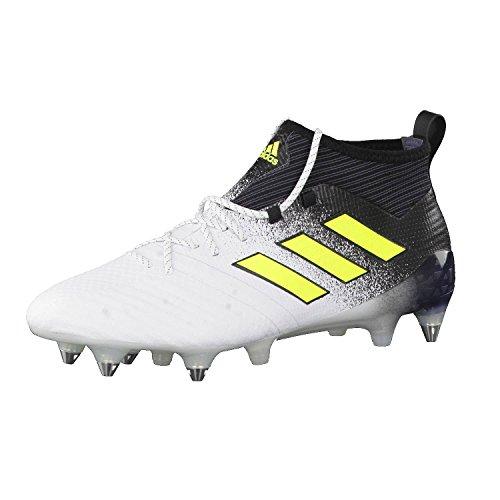 adidas Ace 17.1 SG, Scarpe da Calcio Uomo, Vari Colori Bianco, Giallo, Nero (Ftwbla Amasol Negbas), 40 EU
