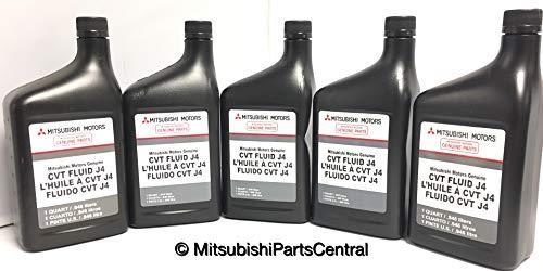 Genuine Mitsubishi J4 (J1) CVT Transmission Fluid - 5 Quarts - MZ320185 Lancer Outlander & Sport with CVT Transmission 2008 2009 2010 2011 2012 2013 2014 2015 2016 2017 2018 2019 2020