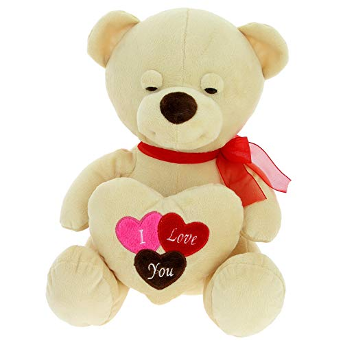 Bimar Peluche Oso Triston Corazon 28 cm, Multicolor