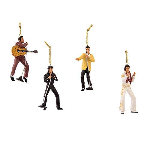 Kurt Adler Elvis Presley 4-Piece Ornament Gift Set