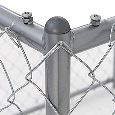 Lucky Dog 10 x 5 x 6 Foot Chain Link Dog Kennel Enclosure