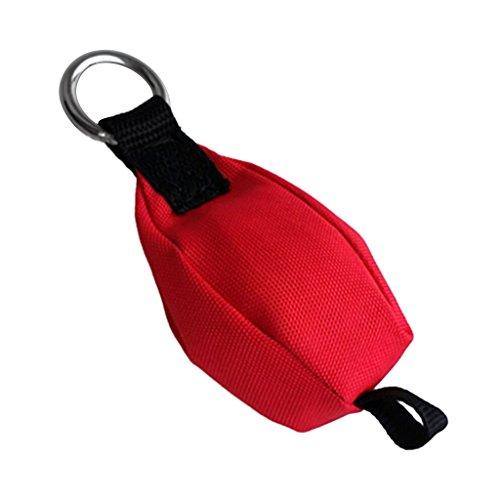 Sharplace Sac de Jet Arboriste Poche Poids Grimper Arbre Équipement Gréement - Rouge, 250g avec Boucle de Queue