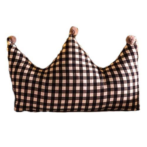 Cojín con Forma de Cuña Corona Cabecera del amortiguador cama de princesa del viento lavable almohada trasera grande Sofá Cama de la almohadilla amortiguador trasero (Entramado) Almohadas de L