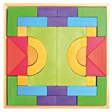 Grimm's Large Basic Building Set - Handmade Wooden Modular Blocks, 30 Pieces in 17-inch Storage Tray (4x4...