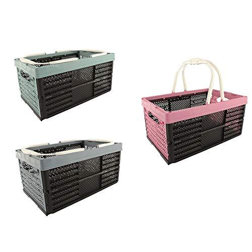 HRB Einkaufskorb Einkaufstasche 16 Liter, 40 x 26 x 20 cm Kiste Korb Klappbox