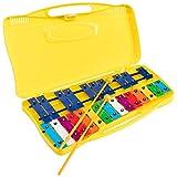 Glockenpiel carrillon metalofono SSATION SG-25C cromático, 25 notas colores con estuche y mazas -...