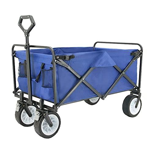 Z-SEAT Carrito de Playa Carrito portátil de 4 Ruedas, Remolque turístico para Acampar al Aire Libre, Tirador Ajustable para fotografía, camión de tracción, Frenos Dobles, r